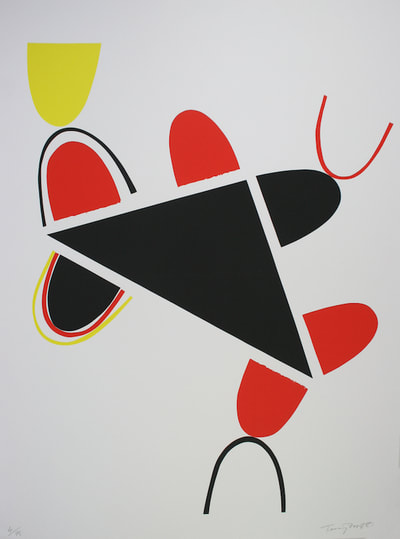 Terry Frost (1915 - 2003) Yellow, Red and Black for Lorca 1981 Screenprint 78 x 58 cm