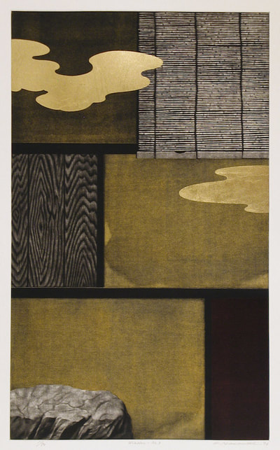Morimura Ray (b. 1948) Morning Glory and Tea House Woodblock print