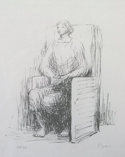 Henry Moore (1898 - 1986) Seated Woman in an Armchair Lithograph Signed and numbered from the edition of 75- Gwen Hughes